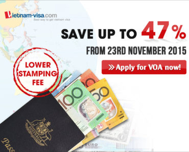 lower stamping fee for Vietnam visa on arrival