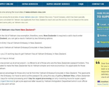 Vietnam visa in New Zealand